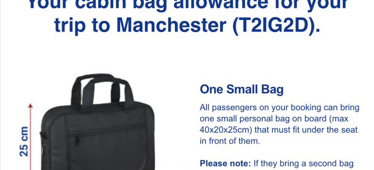 New Ryanair hand luggage restrictions